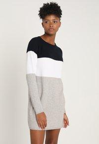 ONLY - NEW BLOCK DRESS - Jumper dress - night sky/w. white melange/lgm - 0