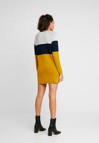 ONLY - NEW BLOCK DRESS - Jumper dress - chai tea/night sky - 2