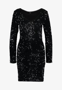 ONLY - ONLCONFIDENCE L/S BODYCON DRESS JRS - Cocktail dress / Party dress - black/sequins black - 4
