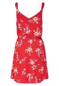 ONLY - ONLKARMEN SHORT DRESS - Korte jurk - red - 1