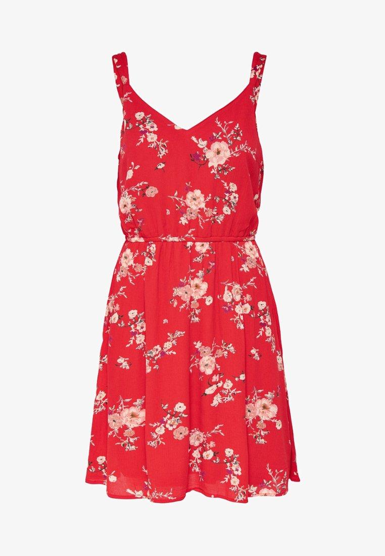 ONLY - ONLKARMEN SHORT DRESS - Korte jurk - red