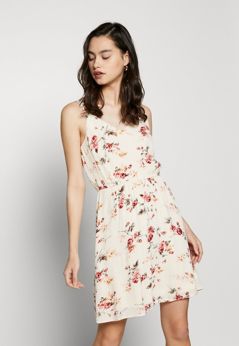 ONLY - ONLKARMEN SHORT DRESS - Day dress - creme brûlée/rose