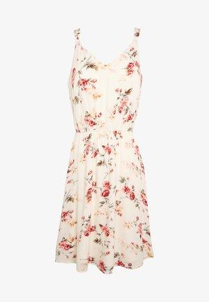 ONLKARMEN SHORT DRESS - Sukienka letnia - creme brûlée/rose