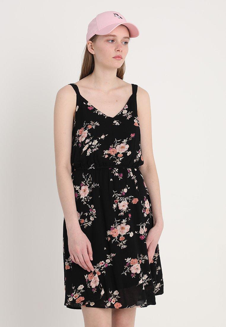 ONLY - ONLKARMEN SHORT DRESS - Korte jurk - black