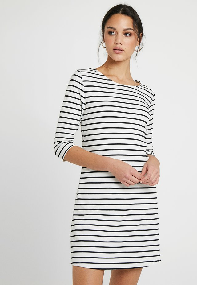 ONLBRILLIANT 3/4 DRESS  - Jerseyjurk - cloud dancer/black