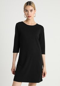 ONLY - ONLBRILLIANT 3/4 DRESS  - Trikoomekko - black - 0