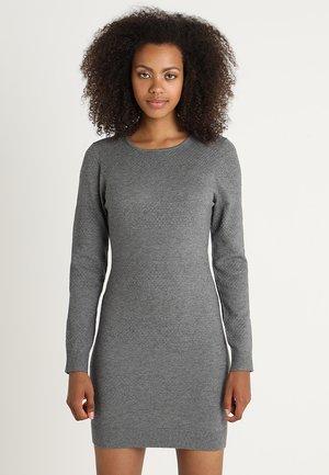 ONLBRENDA DRESS - Pletené šaty - medium grey melange