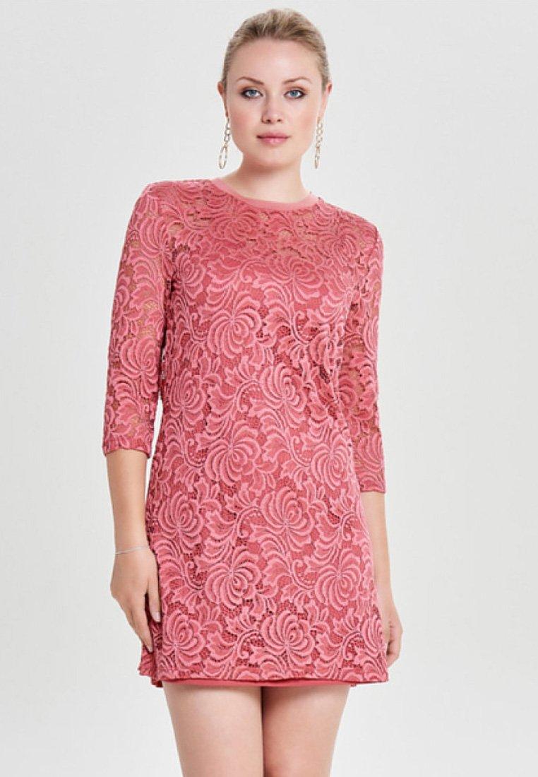 ONLY - ONLDAMIAN DRESS - Sukienka koktajlowa - bordeaux