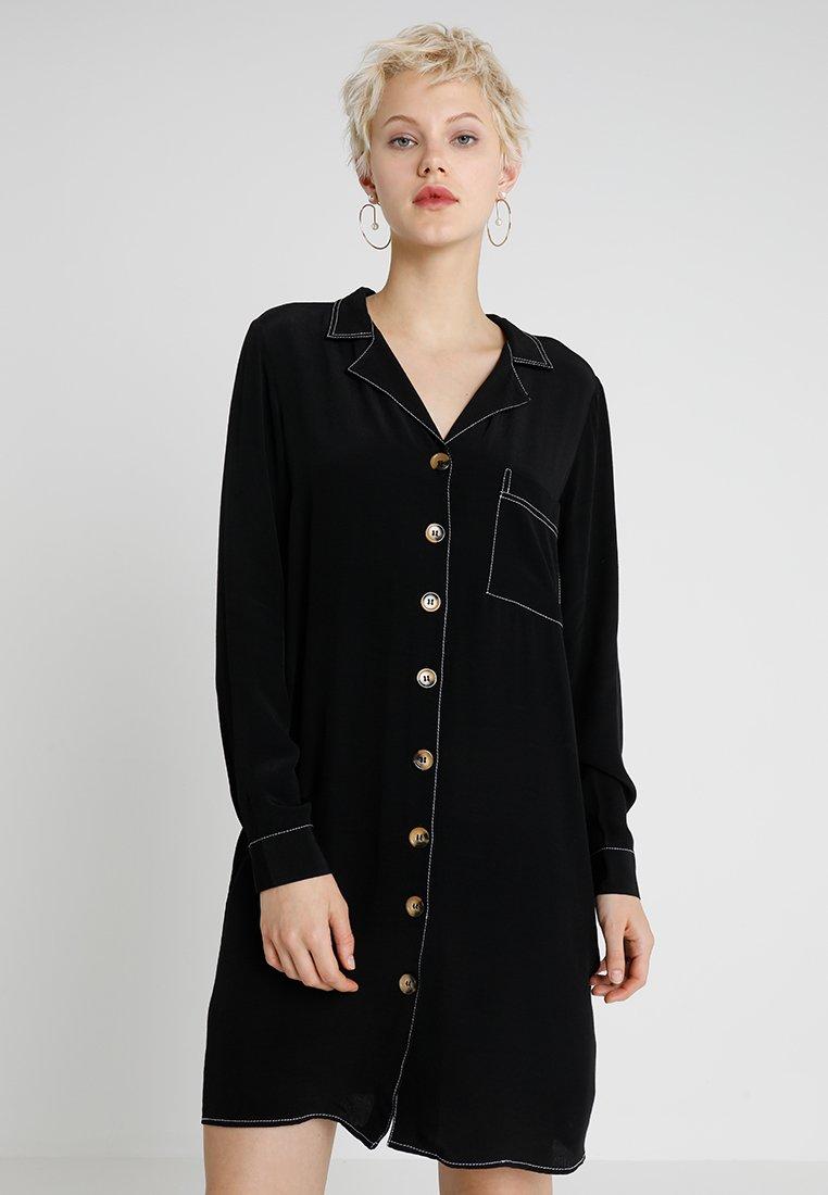 ONLY - ONLNADINE BUTTON DRESS - Shirt dress - black