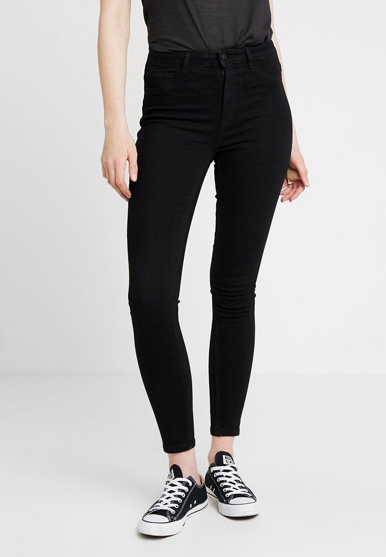 ONLY - ONLRISK HI-RISE BOX - Jeans Skinny Fit - black denim