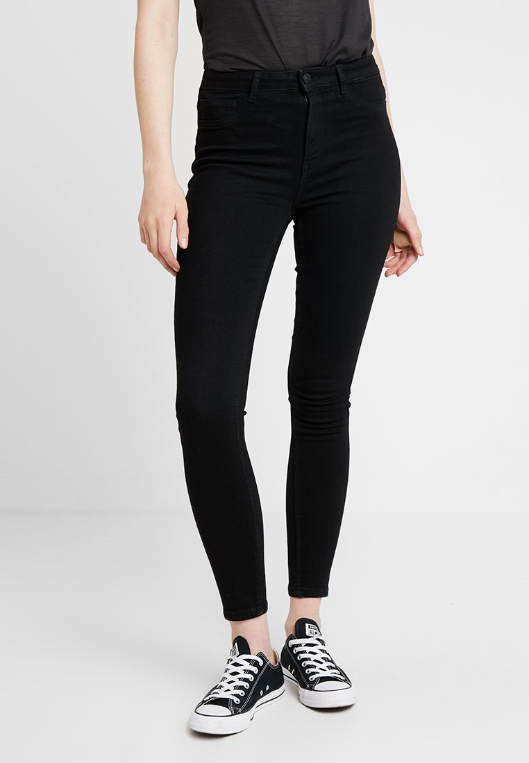 ONLY - ONLRISK HI-RISE BOX - Jeans Skinny Fit - black denim