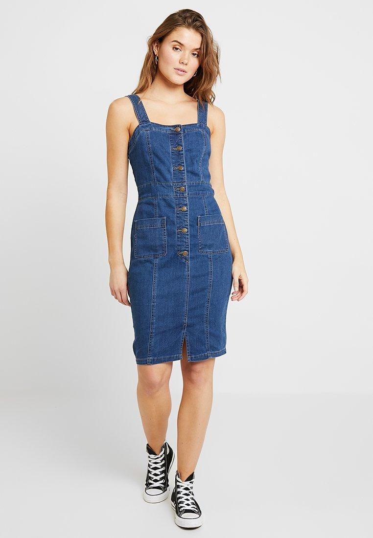ONLY - ONLJUDITH BUTTON DRESS - Jeanskleid - dark blue denim