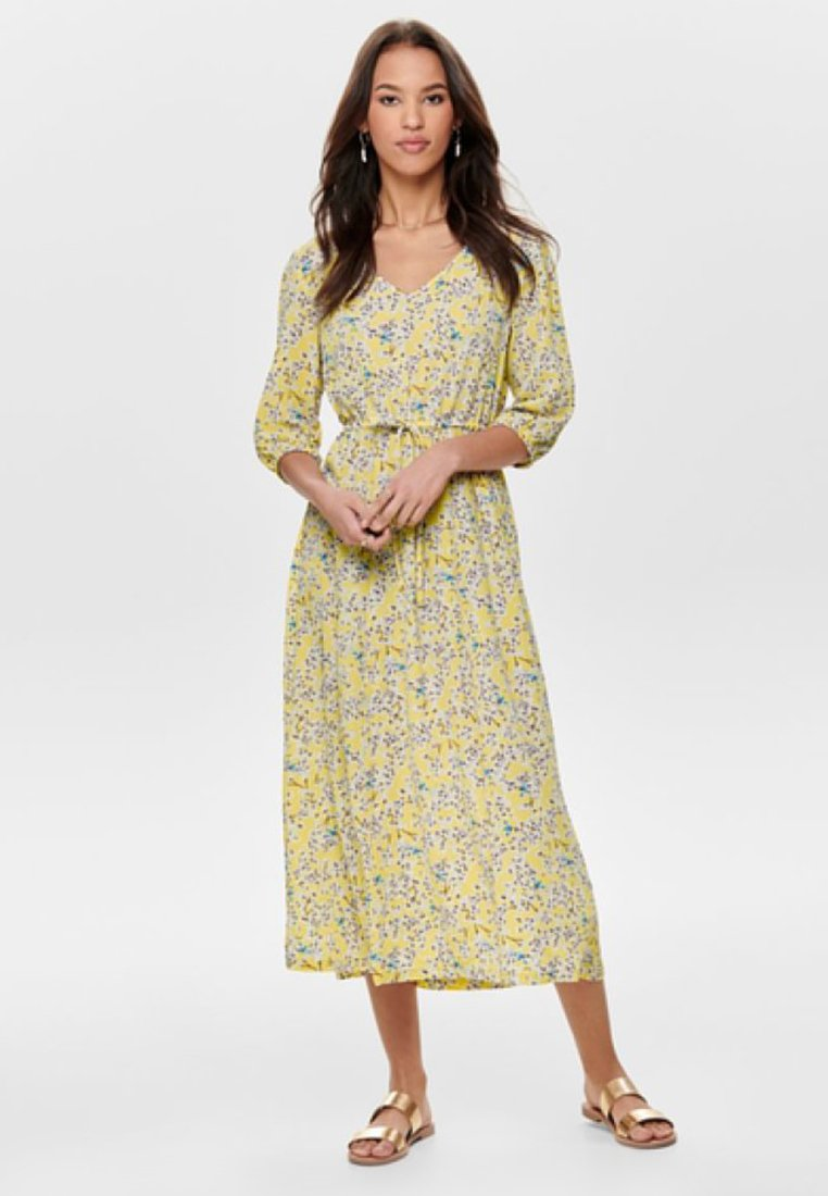 ONLY - Maxi-jurk - mellow yellow