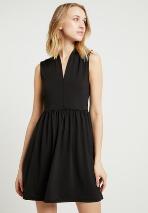 ONLSNAKELOVE NIELLA V NECK DRESS - Jersey dress - black