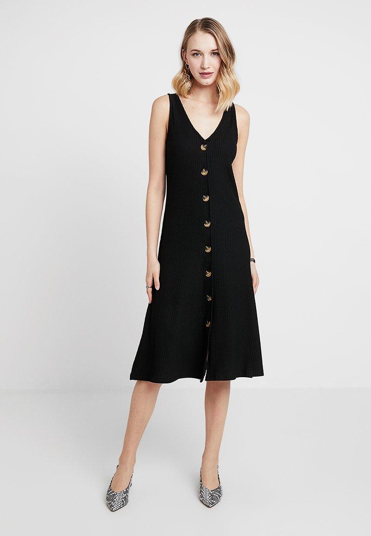 ONLY - ONLNELLA BUTTON DRESS - Gebreide jurk - black