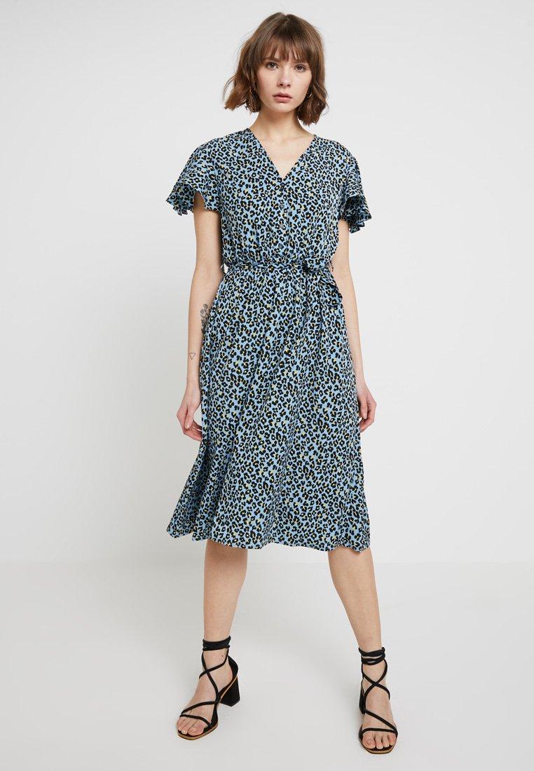 ONLY - ONLTIA LEO FLARED DRESS - Blousejurk - cerulean