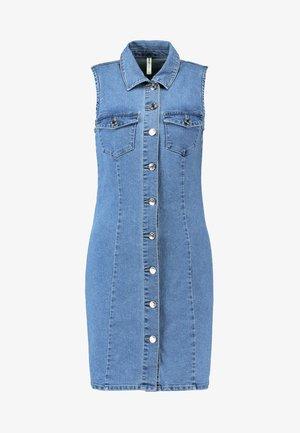 ONLAMAZE BUTTON DRESS  - Dongerikjole - light blue denim