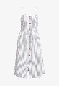 ONLY - ONLLUNA STRAP STRIPE DRESS - Skjortekjole - white - 4