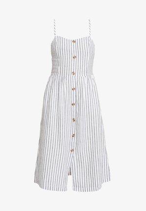 ONLLUNA STRAP STRIPE DRESS - Košilové šaty - white