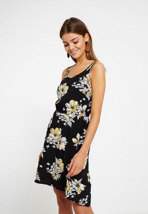 ONLNOVA SARA DRESS - Vestito estivo - black/yellow
