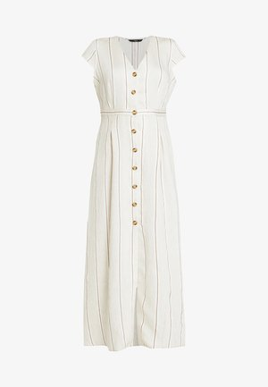 ONQNAOMI DRESS - Maxikjole - bright white/old gold/bitter choc