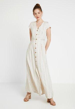 ONQNAOMI DRESS - Maxi-jurk - bright white/old gold/bitter choc