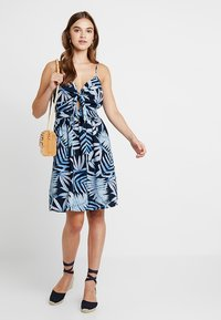ONLY - ONLAMALIA STRAP DRESS - Day dress - insignia blue/summer tropic - 2
