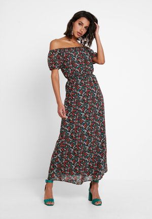 ONLFMISHA OFFSHOULDER DRESS - Maxi šaty - black/neon
