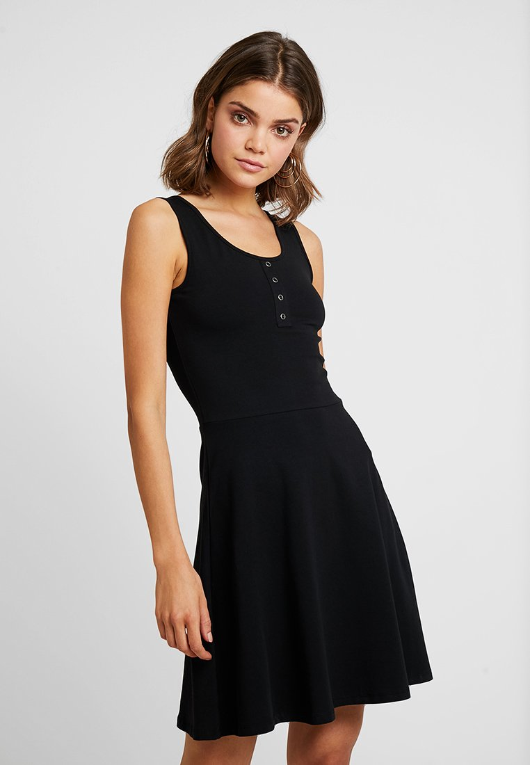 ONLY - ONLNIELLA BUTTON DRESS BOX - Žerzejové šaty - black