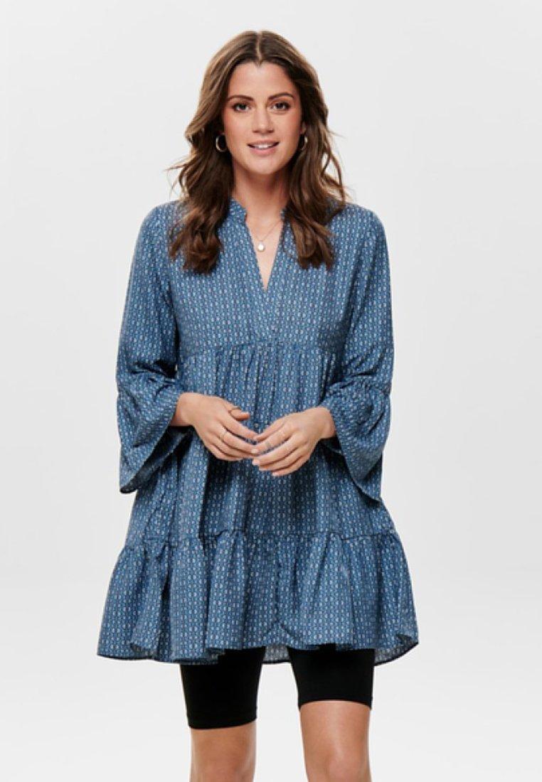 ONLY - ONLDIANAATHENA 3/4 DRESS - Hverdagskjoler - mottled blue