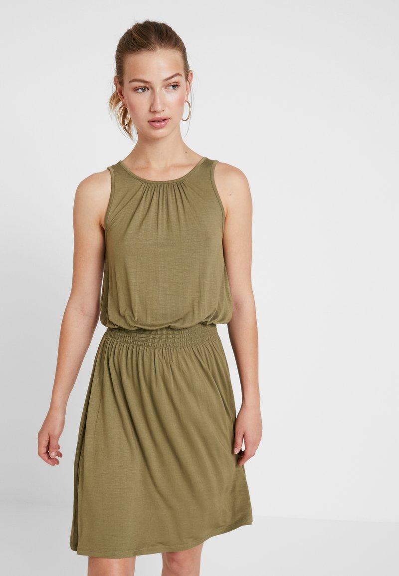 ONLY - ONLADELA DRESS - Jerseykleid - martini olive