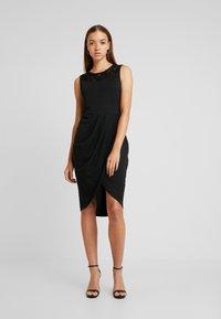ONLY - ONLBREMEN O NECK DRESS - Jerseyjurk - black - 0