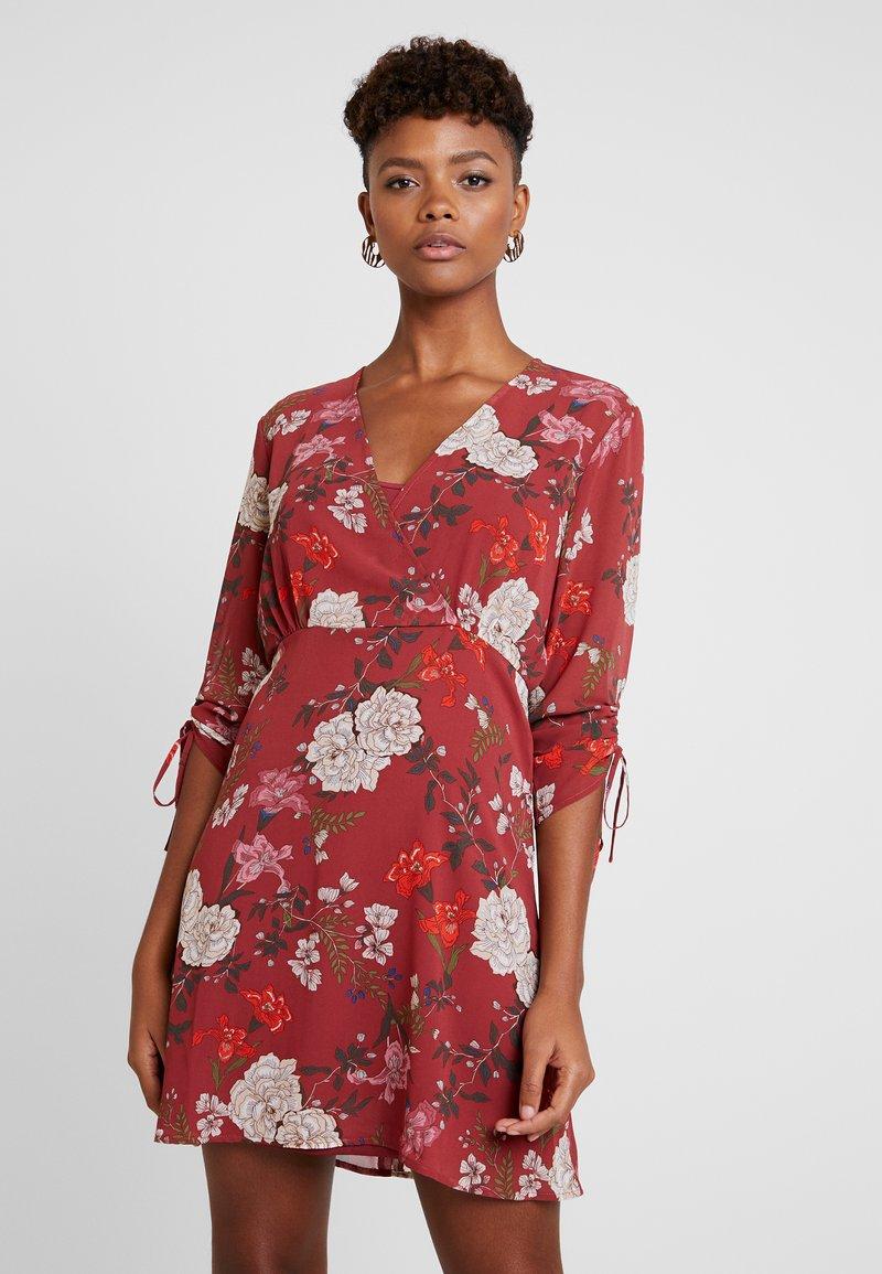ONLY - ONLMIMI SHORT DRESS - Freizeitkleid - merlot