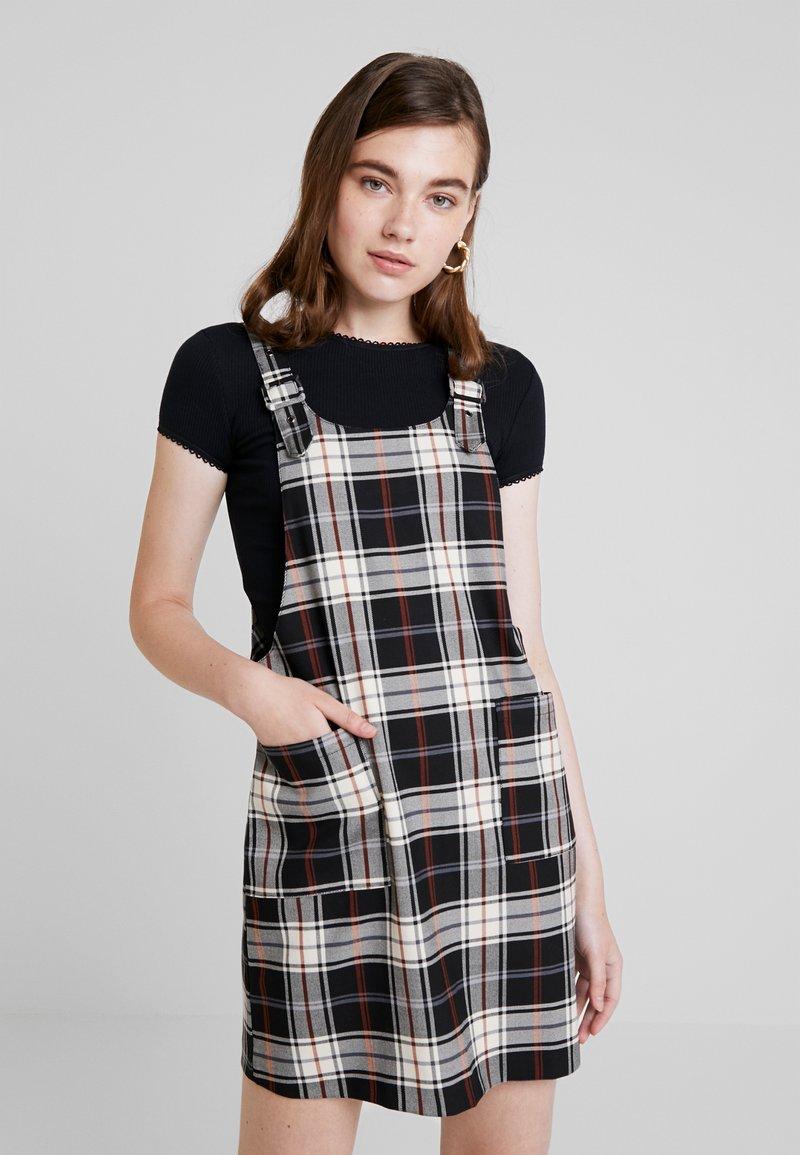 ONLY - ONLFRIDA CHECK SPENCER DRESS - Day dress - peyote/moonless night/ketchup