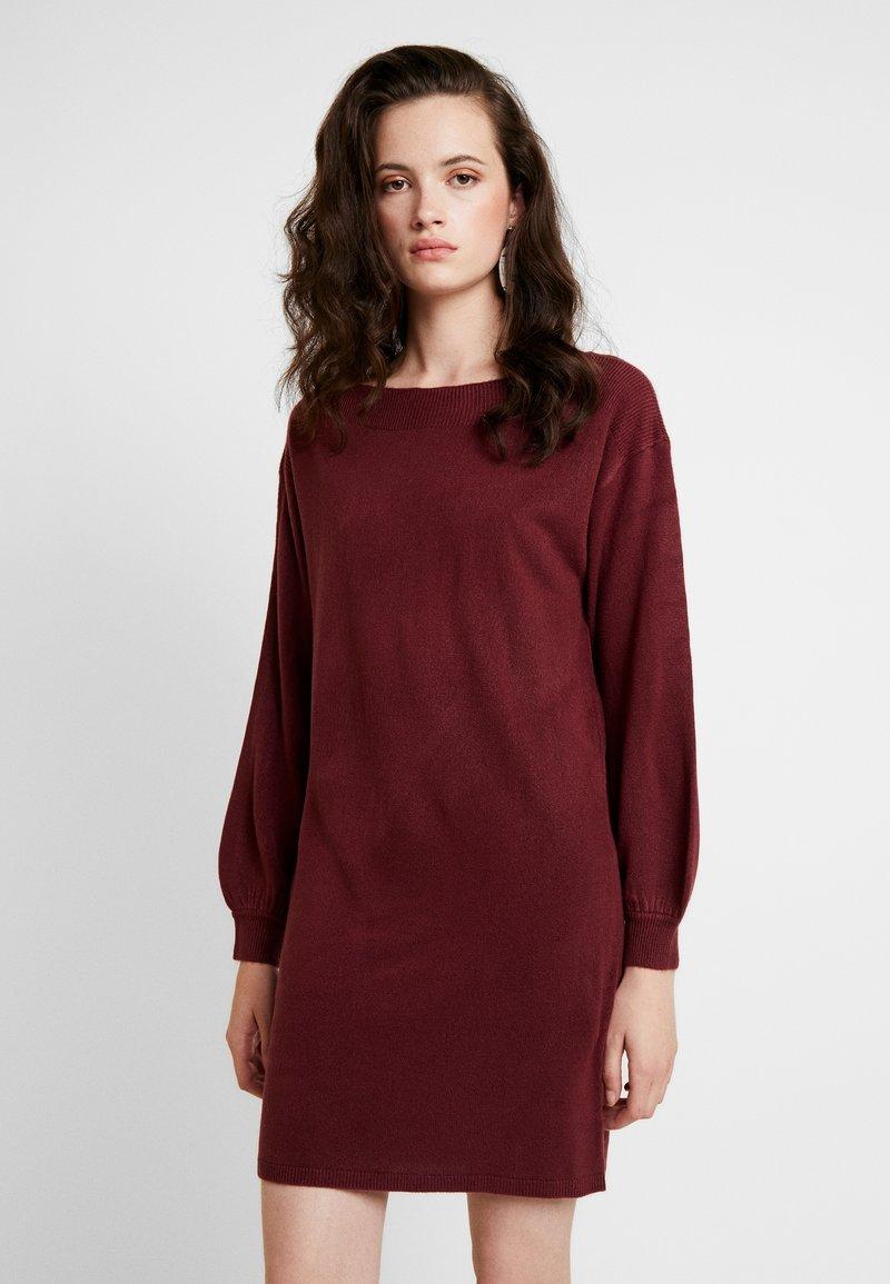 ONLY - ONLJESSIE BOATNECK DRESS - Jumper dress - tawny port