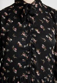 ONLY - ONLTHEA HIGHNECK DRESS - Košilové šaty - black - 6