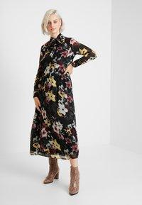 ONLY - ONLTHEA HIGHNECK DRESS - Skjortekjole - black - 1