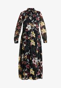 ONLY - ONLTHEA HIGHNECK DRESS - Skjortekjole - black - 5