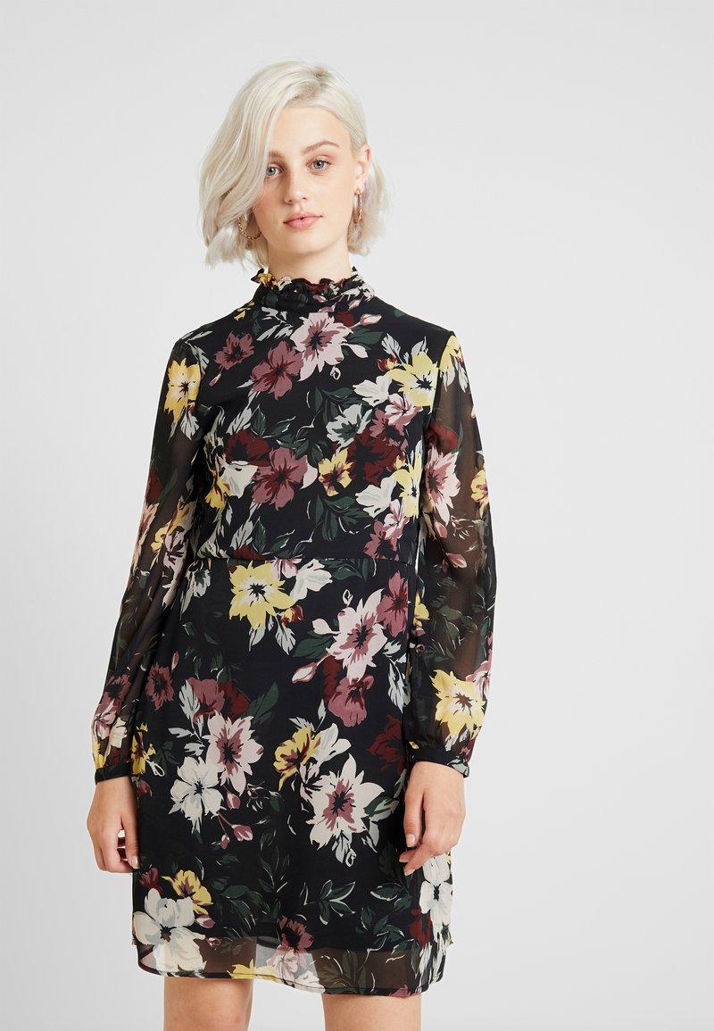 ONLY - ONLTHEA HIGHNECK SHORT DRESS  - Freizeitkleid - black