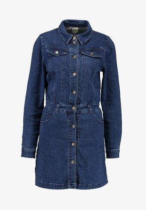 ONLCLEVA DRESS YORK - Dongerikjole - dark blue denim