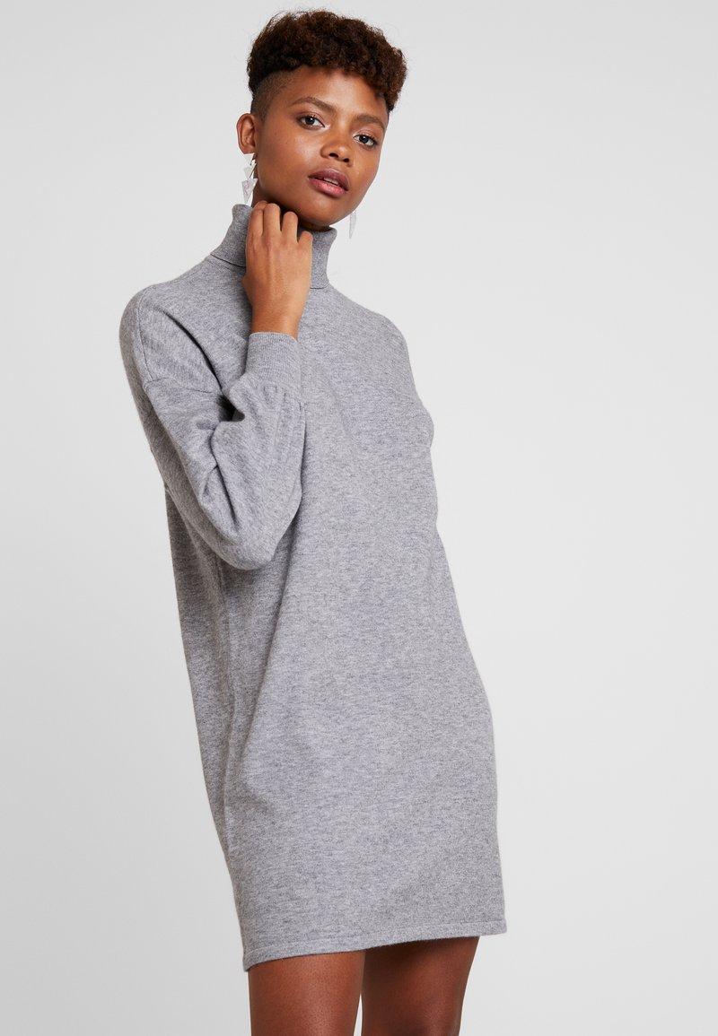 ONLY - ONLJESS ROLLNECK DRESS  - Jumper dress - medium grey melange