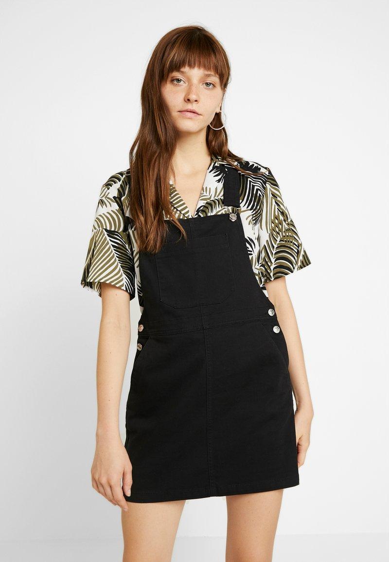 ONLY - ONLSTINA ELINA SPENCER DRESS - Jeanskleid - black