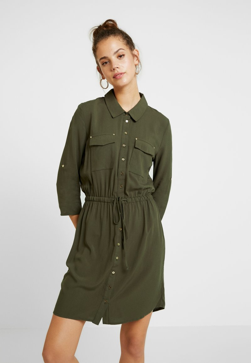 ONLY - ONLJOSEFINE 3/4 SLEEVE DRESS - Blusenkleid - tarmac