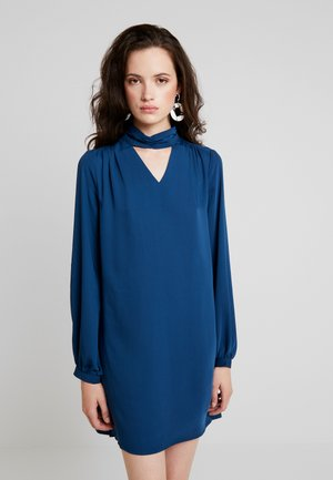 ONLBUBBA HIGHNECK DRESS - Day dress - majolica blue