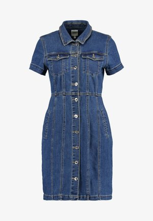 ONLOFELIA BUTTON DRESS - Robe en jean - medium blue denim