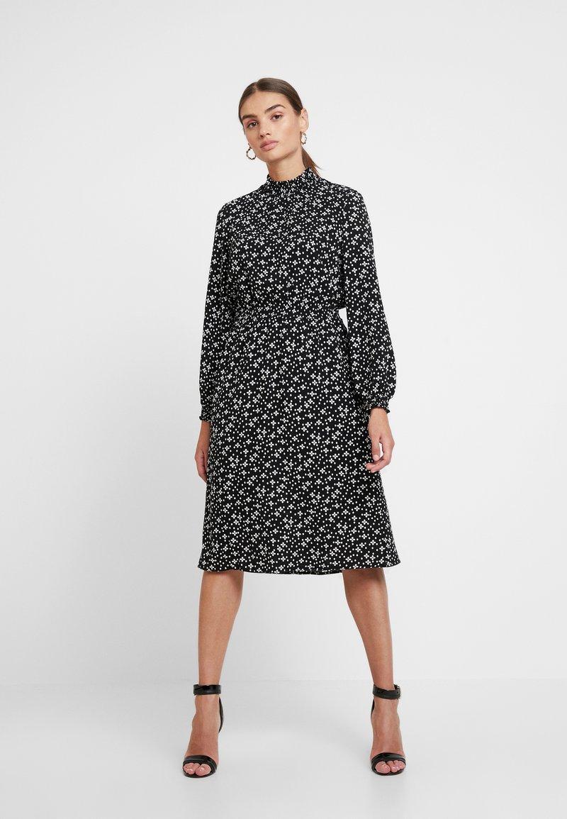 ONLY - ONLNOVA HIGHNECK DRESS - Blusenkleid - black