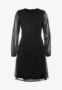 ONLY - ONLLINA DRESS - Robe d'été - black - 4