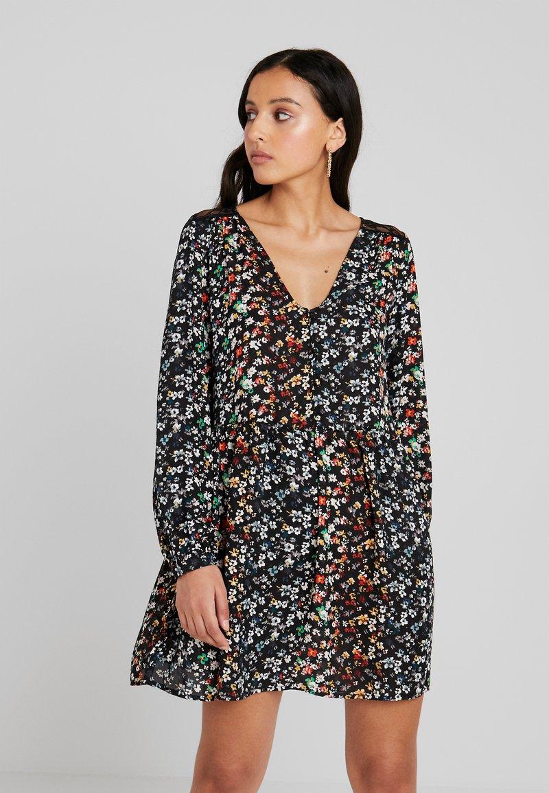ONLY - ONLELLA  DRESS  - Vestido informal - black/folk ditsy