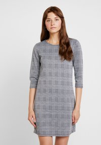 ONLY - ONLBRILLIANT 3/4 CHECK DRESS - Korte jurk - black/cloud dancer - 0