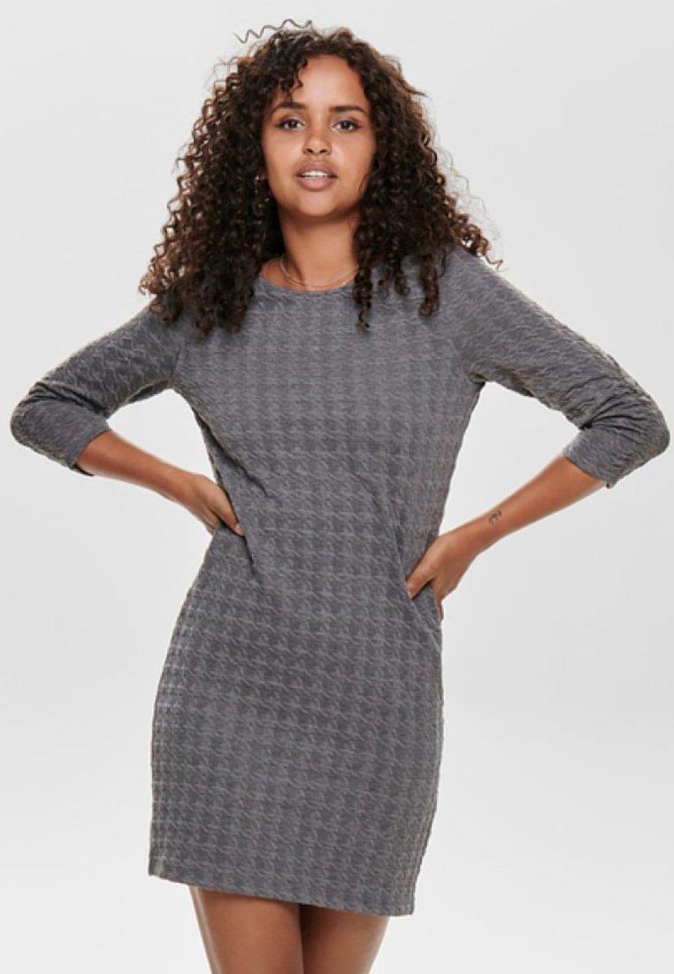 ONLY - Jerseykleid - medium grey melange